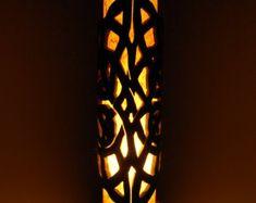 Lamp table lamp natural bamboo lamp girlfriend gift by bamboobg