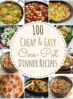 100 Cheap & easy One-Pot Dinner Recipes Single, low budget, and not enough dishes for a full course meal? How about over worked, stressed, coming home to a messy house with two or three kids running a muck? These recipes are for you. They exemplify cheap, easy, quick and delicious eating. 100 Cheap & easy … Continue reading »