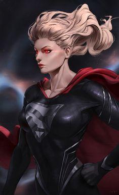 Black Superman, Black Cat Marvel, Superman Art, Power Girl Supergirl, Supergirl Dc, Dc Comics Girls, Dc Comics Art, Marvel Dc, Superhero Pictures