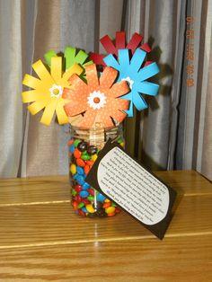 M's paper flower bouquet- Teacher Appreciation Gift