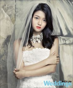 Nam Bo Ra models as a lovely and serene bride for InStyle Weddings' April issue. My understanding of the translations may be incorrect, but I gather that she is the magazine's youngest … Bali Wedding, Wedding Gowns, Nam Bo Ra, Korean Wedding Hair, Down Hairstyles, Wedding Hairstyles, Wedding Hair And Makeup, Girl Pictures, Asian Beauty