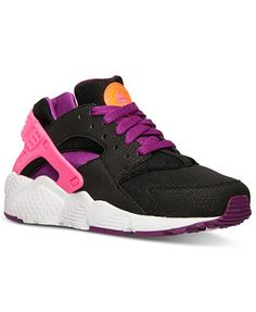 purchase cheap 5eb6a eafbc Nike Girls  Huarache Run Running Sneakers from Finish Line Kids - Finish  Line Athletic Shoes - Macy s