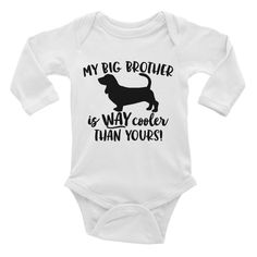 Big Brother Bassett Hound Infant Long Sleeve Bodysuit