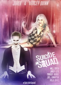 Suicide Squad Joker and Harley Quinn Poster by mintmovi3