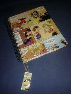 Cuaderno forrado con comic