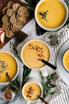 Butternut Squash Soup from This Rawsome Vegan Life Cookbook // by Faring Well #vegan #recipe #currentlycoveting #holidays2015 #holidaze #holidaystyle