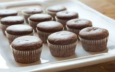 Chocolate Raspberry Cupcakes-   These vegan treats are perfect with a light spreading of fruit-sweetened raspberry jam instead of frosting.