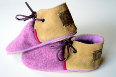 Modern Jill wool and leather baby and toddler by MWMeganWoods