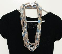 Accessorize with this stylish scarf!  Also called a cowl, this handmade item will compliment any outfit.  Handmade out of acrylic yarn.  Ready to ship.