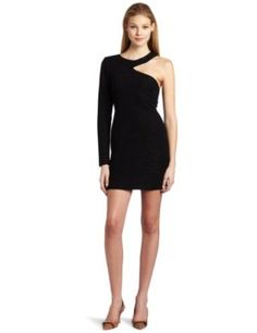 BCBGeneration Women's One Sleeve Cut Out Dress