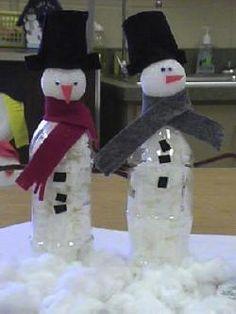 Water bottle Snowman – basteln – Home crafts Christmas Crafts For Kids, Christmas Projects, Kids Christmas, Holiday Crafts, Holiday Fun, Kids Winter Crafts, Primitive Christmas, Father Christmas, Country Christmas