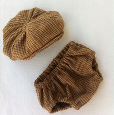 Baby Boy Diaper Cover and Newsboy Hat. Great Photo Prop and Cake Smashing Outfit.. $45.00, via Etsy.