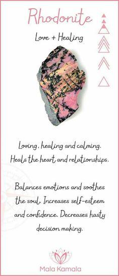rhodonite represents love and healing