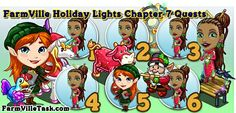 FarmVille Holiday Lights Chapter 7 Quests http://farmvilletask.com/holiday-lights/farmville-holiday-lights-chapter-7/