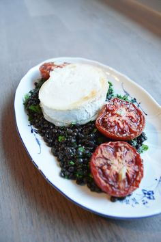 fork and flower: lentil salad with goat cheese