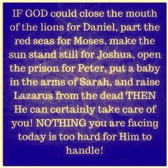 God can handle it!
