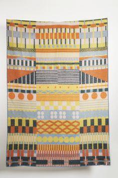 Gunta Wool Blanket by Sophie Probst & Michele Rondelli – ZigZagZurich Bauhaus Textiles, Nathalie Du Pasquier, Bauhaus Design, Bauhaus Art, Cotton Blankets, Wool Blanket, Creative Director, Modern Art, Original Art
