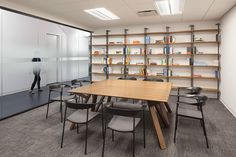 Grovo Office RenovationDesigner: Thomas Juncher Jensen from JIDKPhotographer: Peter Kubilus Co Working, Design Firms, Wall Design, Nyc, Shelves, Interior Design, Elegant, Workspaces, Furniture