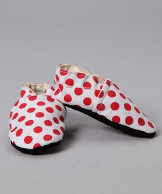 Take a look at this Red Polka Dot Booties by Augusta Baby on #zulily today!
