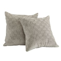 INSPIRE Q Clybourn 18-inch Toss Grey Link Accent Pillow (Set of 2) - Overstock™ Shopping - Great Deals on INSPIRE Q Throw Pillows