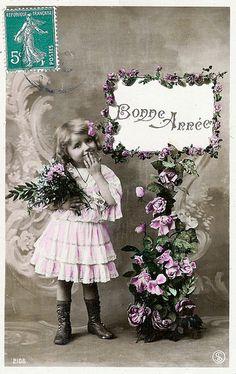 Image: 'Vintage Postcards - Bonne Annee - 01', found on flickrcc.net