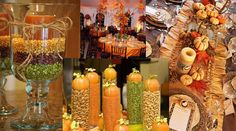 Mason Jar thanksgiving Centerpieces | Simply Love Fall Weddings | Southern Celebrations
