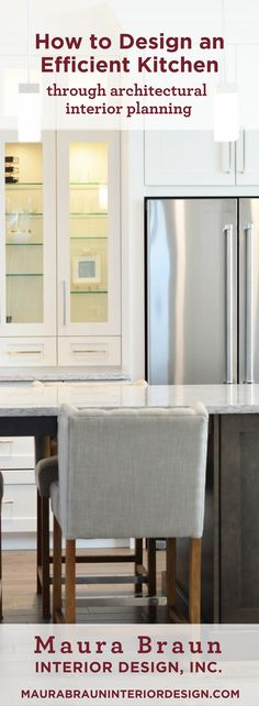 Designing an efficient kitchen is harder than it looks. We have a simple way to create a kitchen that flows. Maura Braun Interior Design, INC.