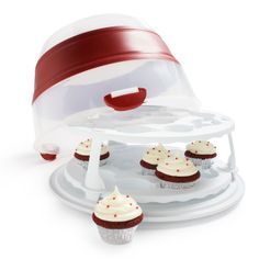 36 Cupcake Carrier Classy Cupcake Courier 36Cupcake Plastic Storage Container Soft Blue Sky Design Inspiration