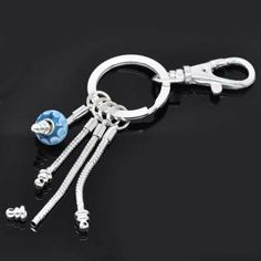 (Screw End) Silver Plated Key Chain Easy to Add Beads for Pandora , European Beads Pro Jewelry. $9.75. Quantity: 1  Key Chains. Silver Plated Key Chains (Screw End) for European Beads. Key Chains Only No beads included!!