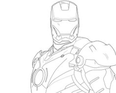 Gambar Mewarnai Iron Man 3  Coloring Pages  Pinterest  Iron man