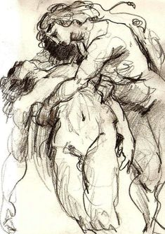 Venus and Adonis Sketch // Peter Paul Rubens