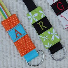 Personalized Quilted Lanyard  $12.00 by  Stitcheroos