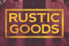 Rustic Goods Vector Handcraft by 3lines on Creative Market
