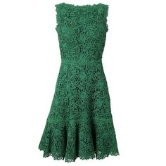 VALENTINO Macrame Lace and Silk Dress ($5,560) found on Polyvore