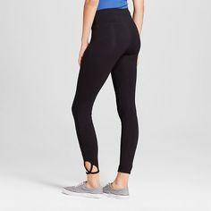 Women's Crop Leggings with Clover Cut Out Black Xxl - Mossimo Supply Co.