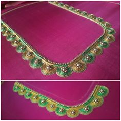 Simple Blouse Designs, Blouse Neck Designs, Simple Designs, Aari Work Blouse, Thread Work, Embroidery Designs, Blouses, Diamond, Jewelry