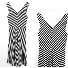 Striped Sleeveless Dress Size XSmall Black & White Sheath Knee Length Modest #Maurices #Sheath #WeartoWork