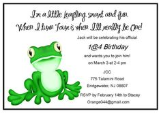 Cute invites for leapies.