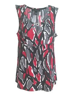 INC Red, Gray, Black & White Sleeveless Top - Size XL $13.95 at #refreshboutique on #eba https://seethis.co/V4VD9/