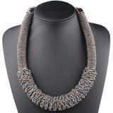 Bohemian Choker Handmade Woven Necklace – Anna Kay & Co. Rope Jewelry, Bohemia Style, Summer Necklace, Acrylic Beads, Ethnic Fashion, Anna, Chokers, Bohemian, African