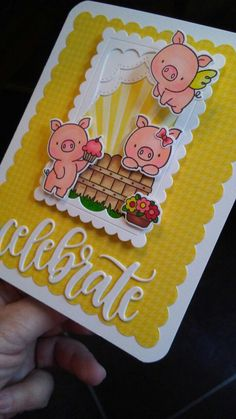 You can't go wrong with My Favorite Things Hog Heaven stamp and die sets. They are soooooo cute. Card by Cindyrella. For Mari !