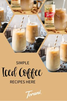 Our iced coffee recipes use a variety of Torani Syrups. These iced coffee recipes are the perfect addition to your morning routine or afternoon pick me up. Start creating your perfect at home iced coffee with these easy iced coffee recipes. Start making your iced coffee here! Sugar Free Hazelnut Syrup, Sugar Free Coffee Syrup, Sugar Free Vanilla Syrup, Coconut Syrup, White Chocolate Syrup, Sugar Free Chocolate Syrup, Chocolate Macadamia Nuts, Banana Syrup, Peach Syrup