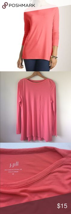 "J. Jill Boat-Neck Elliptical Tee EUC | Runs big Length:26"" Chest: 18"" with more stretch 