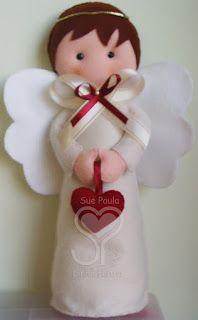 Sue Paula - Linha Feltro: Anjos em feltro
