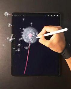 Digital Painting Tutorials, Digital Art Tutorial, Art Tutorials, Digital Art Beginner, Preschool Projects, Kids Crafts, Quick Crafts, Ipad Art, Grafik Design