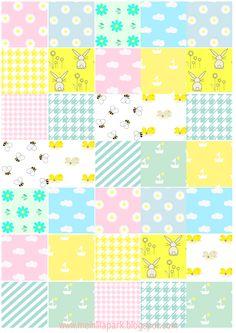 FREE printablel spring pattern paper (- nice for DIY stickers too ^^)