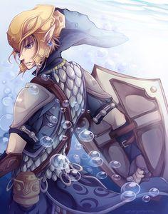 The Legend of Zelda: Twilight Princess, Link / Serene Fortitude by marymarhta on deviantART