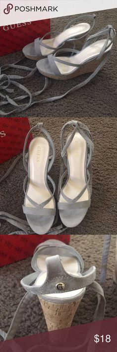 285528cd50b Guess lace up wedges Lace up wedges. The are NWT. Never worn. Brand