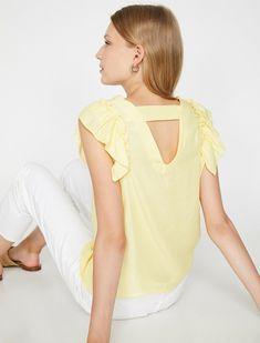 Yellow bir blouse modeli mi arıyorsunuz? Koton''un yellow women frilled blouse modelini incelemek ve satın almak için hemen tıklayın! 8YAK68582PW151