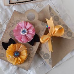 Vellum flower and packaging